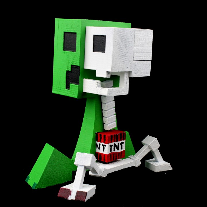 photograph relating to Minecraft Printable Creeper identify 3D Printable Creeper Anatomy towards Minecraft through Kirby Downey
