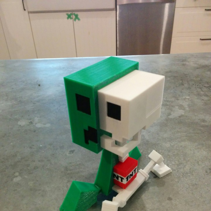 Picture of print of Creeper Anatomy from Minecraft This print has been uploaded by Brian Spradlin