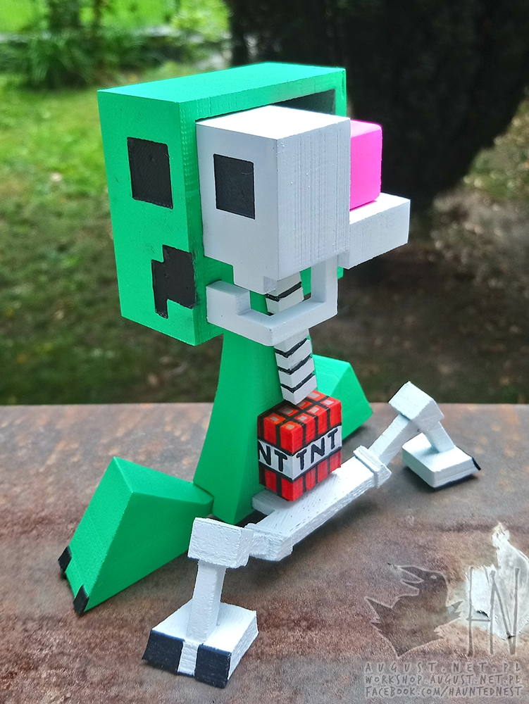 3D Printable Creeper Anatomy from Minecraft by Kirby Downey