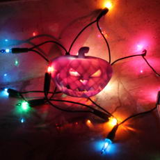 Fairy Light Pumpkin