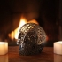 Halloween skull lamps print image