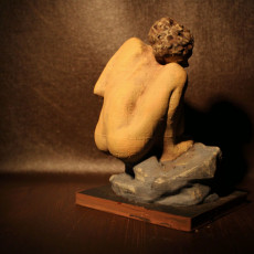 Picture of print of Crouching Woman at La Musée Rodin, France