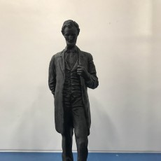 Picture of print of Abraham Lincoln 'The Man' Sculpture at the MET, New York