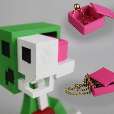 brain box for the minecraft creeper anatomy