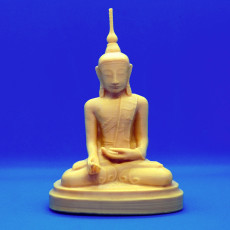 Picture of print of Healer Buddha at the British Museum, London