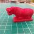 Hippopotamus at the Natural History Museum, London print image