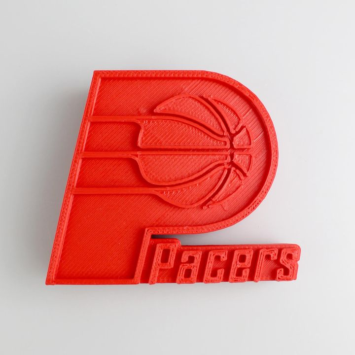 graphic about Printable Pacers Schedule identified as 3D Printable Indiana Pacers Symbol via Miguel Silva