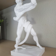 Picture of print of Athlete Wrestling a Python