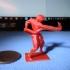 Athlete Wrestling a Python print image