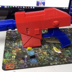 Picture of print of warhammer las pistol