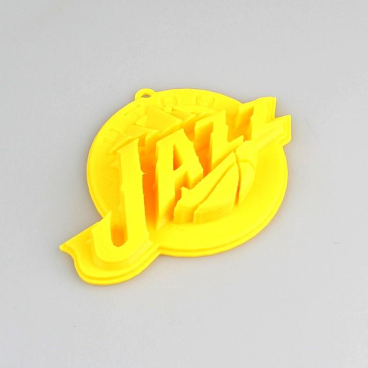 graphic relating to Utah Jazz Schedule Printable identified as 3D Printable Utah Jazz Brand as a result of 3D - RO