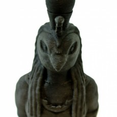 Picture of print of Ra, Egyptian god of Sun bust