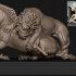 Lion Attacking Horse at the Getty Center, USA image