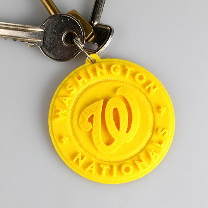 photograph about Washington Nationals Printable Schedule known as 3D Printable Washington Nationals Brand through 3D - RO