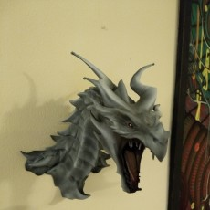 Picture of print of Alduin dragon Bust