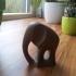 Elephant statue print image