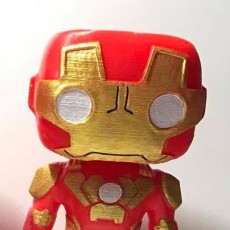 Picture of print of Iron Man (Marvel Bobble-Head Heroes)