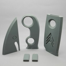 Picture of print of Destiny Hunter Knife 这个打印已上传 Spectra3D Technologies