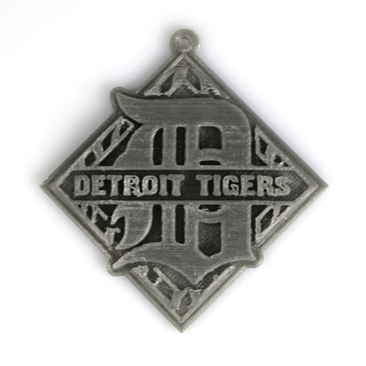 photo about Detroit Tigers Printable Schedule named 3D Printable Detroit Tigers Symbol as a result of 3D - RO