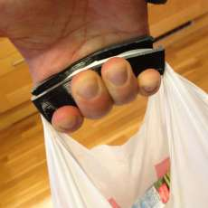 Flexible Plastic Bag Handle with  coins