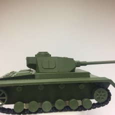 Picture of print of German Panzer IV Model kit
