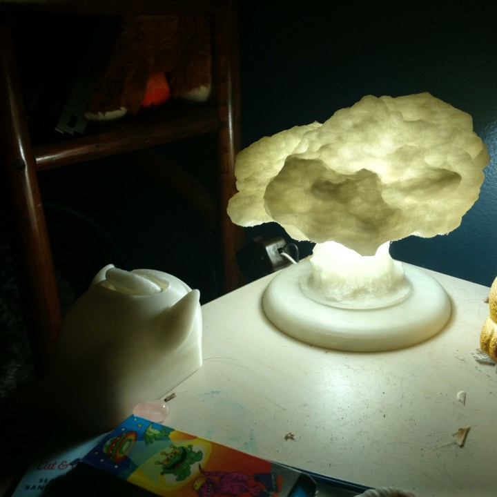 Picture of print of Nuke Lamp with stand (lamp base) This print has been uploaded by Nick Zachariasen