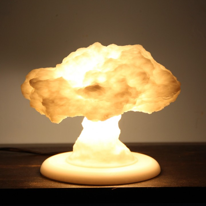 Nuke Lamp With Stand (lamp Base) Image