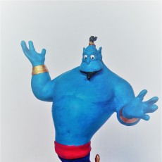 Picture of print of Genie from Aladdin