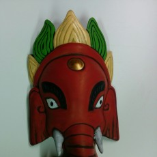 Picture of print of Ganesh Mask in San Francisco