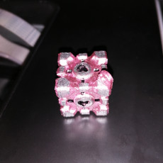 Picture of print of Portal Cube  Key Ring