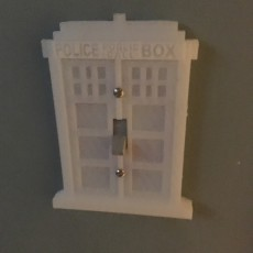 Picture of print of Time and Relative Dimension in Space (TARDIS) Light Switch Cover Plate
