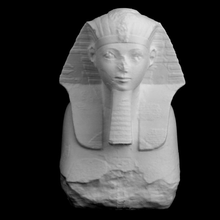 Head and Shoulders of a Sphinx of Hatshepsut at The Metropolitan Museum of Art, New York