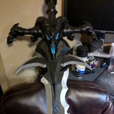 Picture of print of Frostmourne from Warcraft This print has been uploaded by Kurama