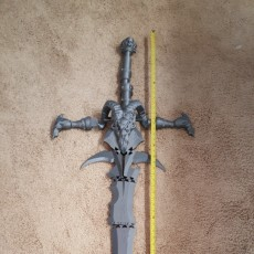 Picture of print of Frostmourne from Warcraft