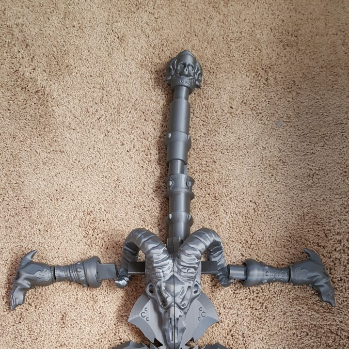 Picture of print of Frostmourne from Warcraft This print has been uploaded by Spectra3D Technologies