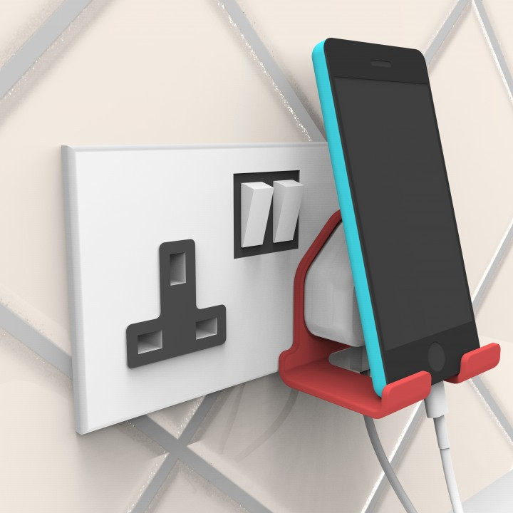 find my iphon 3d printable iphone charger phone stand by smith 4247