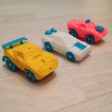 Picture of print of 3DRacers - Corvette STATIC set 1