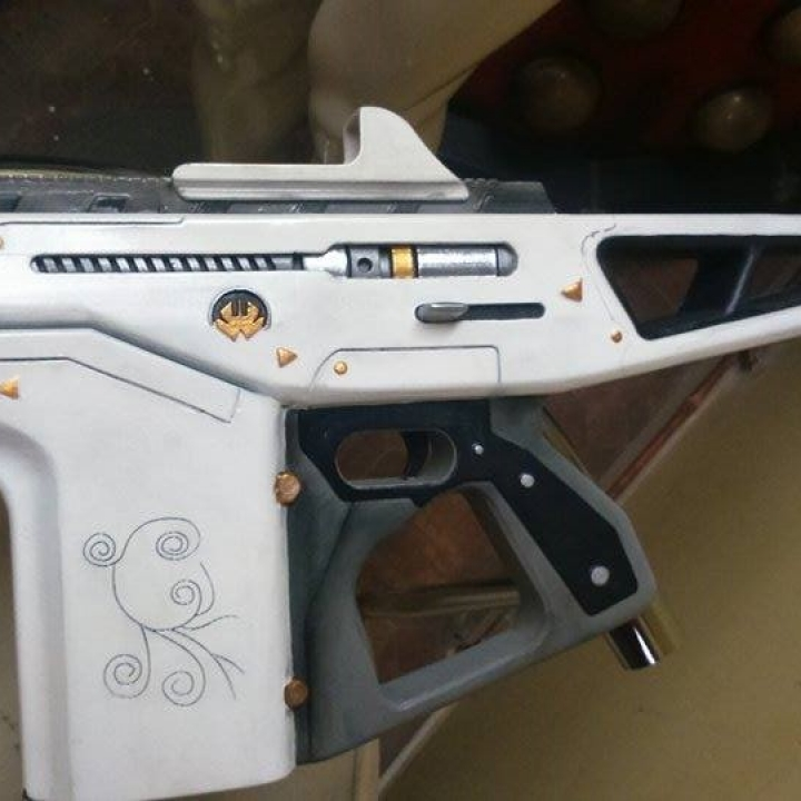 3d printable monte carlo auto rifle from destiny by edv