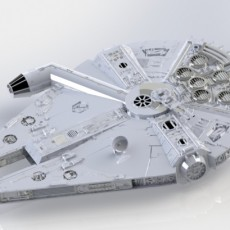 Picture of print of Millenium Falcon (Star Wars)