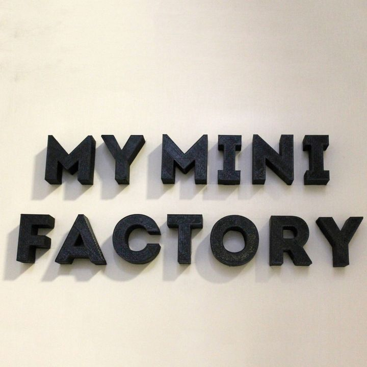 A to Z My Mini Factory Font