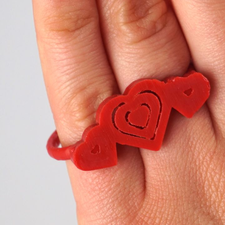 Two-Finger Hearts Ring