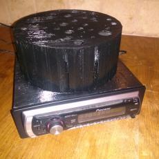 din car radio + speaker 16cm