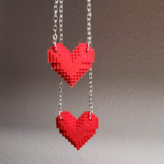 Picture of print of Pixel Heart Pendant