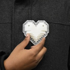 Picture of print of Pixel Heart Pendant This print has been uploaded by Jonathan Campbell