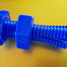 Picture of print of Impossible 3D-printed bolt and nut