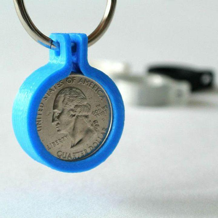 Quarter coin holder