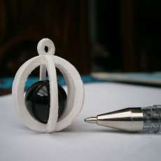 Key chain - sphere marble