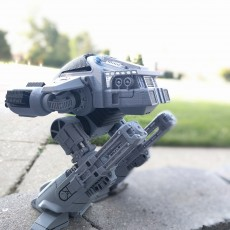 Picture of print of ED209 from Robocop