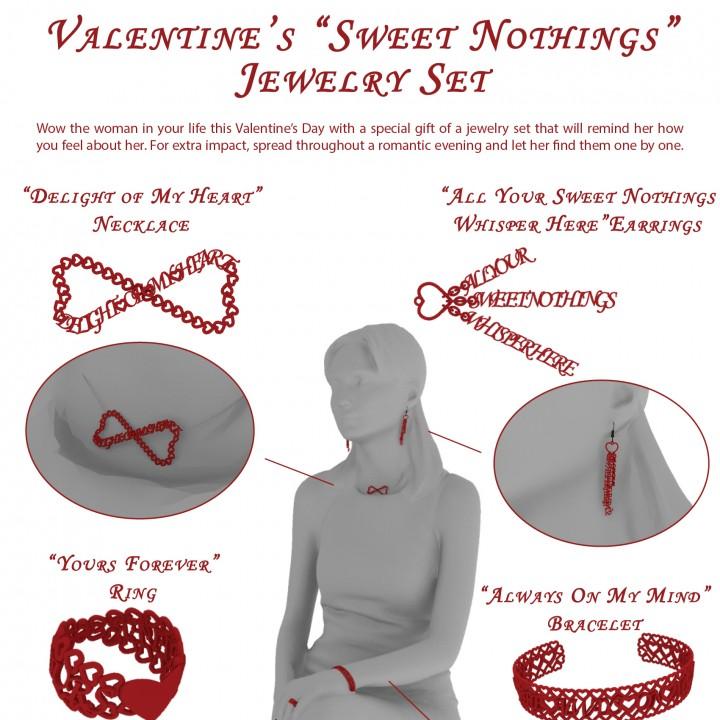 Valentine s  Sweet Nothings  Jewelry Set