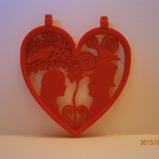 Picture of print of Valentine's day - Heart pendant